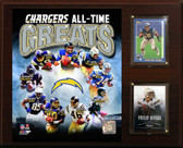 "NFL 12""x15"" San Diego Chargers Greats Plaque"