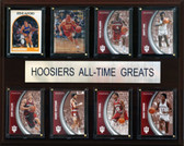 """NCAA Basketball 12""""x15"""" Indiana Hoosiers All-Time Greats Plaque"""