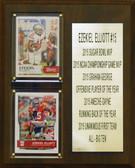 "NCAA 8""X10"" Ezekiel Elliott Ohio State Buckeyes Two Card Stat Plaque"