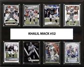 "NFL 12""x15"" Khalil Mack Oakland Raiders 8-Card Plaque"