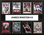 """NFL 12""""x15"""" Jameis Winston Tampa Bay Buccaneers 8-Card Plaque"""