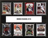 """NFL 12""""x15"""" Mike Evans Tampa Bay Buccaneers 8-Card Plaque"""