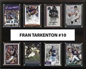 "NFL 12""x15"" Fran Tarkenton Minnesota Vikings 8-Card Plaque"