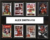 "NFL 12""x15"" Alex Smith Kansas City Chiefs 8-Card Plaque"