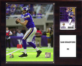 "NFL 12""x15"" Sam Bradford Minessota Vikings Player Plaque"