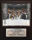"NHL 12""x15"" Pittsburgh Penguins 2016-2017 Stanley Cup Celebration Plaque"