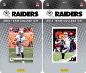 NFL Oakland Raiders Licensed 2018 Panini and Donruss Team Set