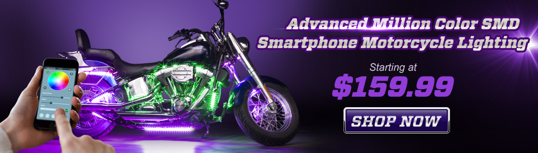 Smartphone Controlled Motorcycle Lighting Kit