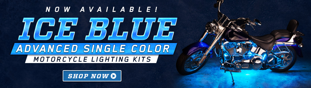 Advanced Ice Blue LED Motorcycle Lights