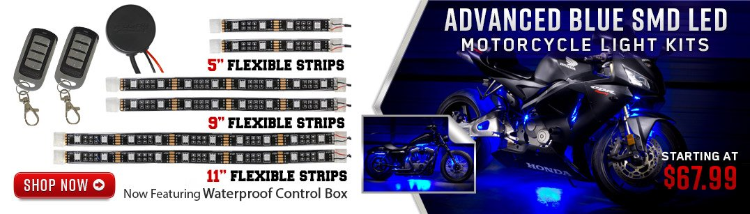 Advanced Blue SMD LED Moto Kit