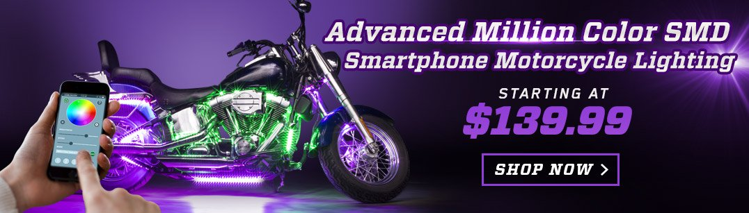 Smartphone Motorcycle Light Kit