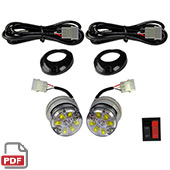 2pc Motorcycle LED Strobe Lighting Kit