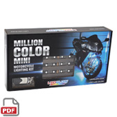 6pc Advanced Million Color Mini SMD Motorcycle Lighting Kit
