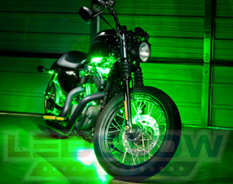 Green Motorcycle LED Lights