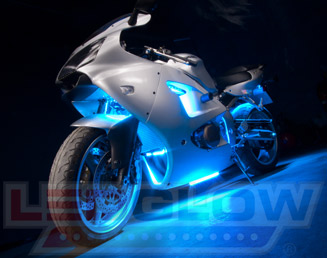 Ice Blue Motorcycle LED Lights & MotorcycleLEDLights by LEDGlow Lighting azcodes.com