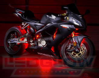 Red Motorcycle LED Lights & MotorcycleLEDLights by LEDGlow Lighting azcodes.com