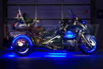Blue LiteTrike Motorcycle LED Lights