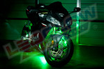 Green LED Motorcycle Lighting Kit