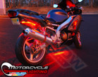 Red LED Accent Lights for Motorcycles