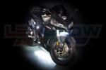 White LED Motorcycle Underglow Lights