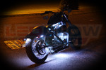 White LED Accent Lights for Motorcycles