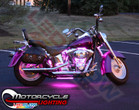 Classic Pink LED Motorcycle Lights