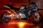 Orange Motorcycle LED Lights