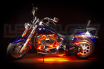 Orange Motorcycle LED Lighting Kit