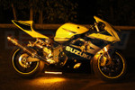 Yellow LED Motorcycle Underglow Lights