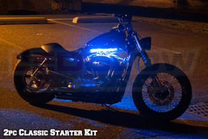 LEDGlow 2pc Classic Blue LED Starter Motorcycle Lighting Kit
