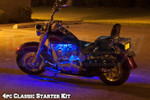 LEDGlow 4pc Classic Blue LED Starter Motorcycle Lighting Kit