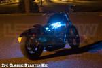 2pc Classic LED Ice Blue Motorcycle Lighting Kit