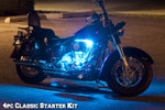 4pc Classic Ice Blue LED Motorcycle Lights