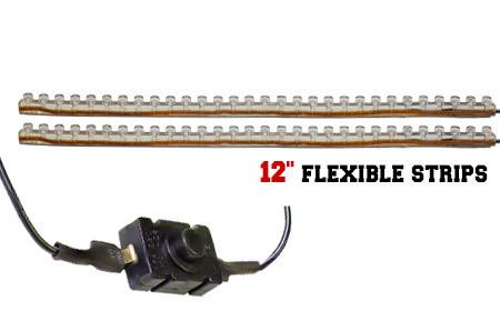 LEDGlow 2pc Classic LED Motorcycle Lighting Kit