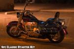 4pc LEDGlow Classic Orange LED Motorcycle Lighting Kit
