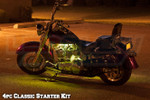 4pc Classic Yellow LED Motorcycle Lighting Kit