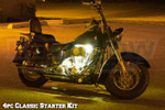 4pc Classic Yellow Motorcycle LED LIghts