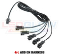 4pc Single Color Motorcycle Add On Harness