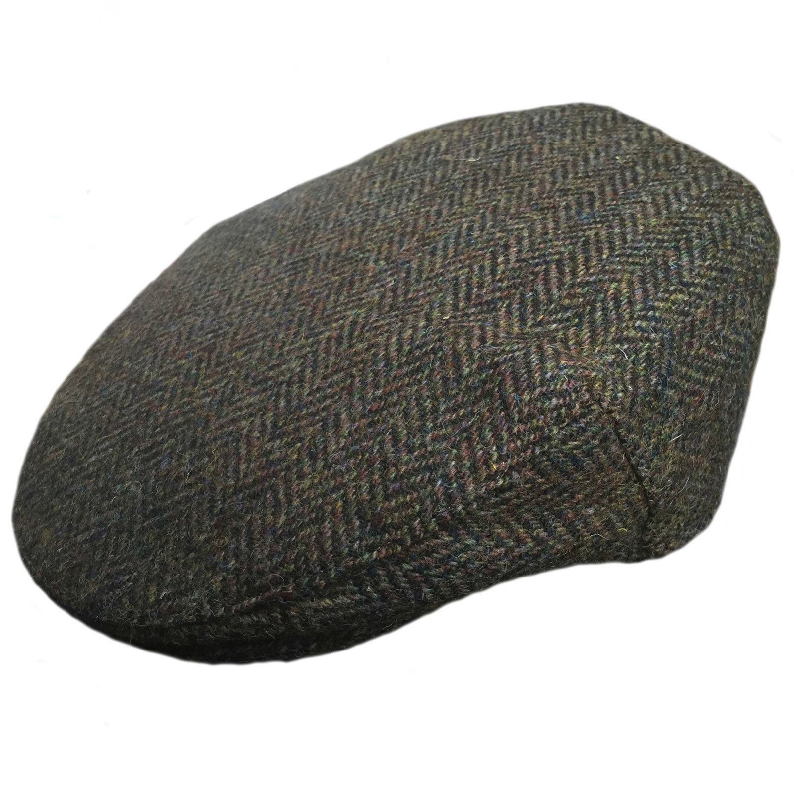 e173e83124f Details about Failsworth Stornoway Brown Green Harris Tweed Peaky Blinders  Style Flat Cap Hat