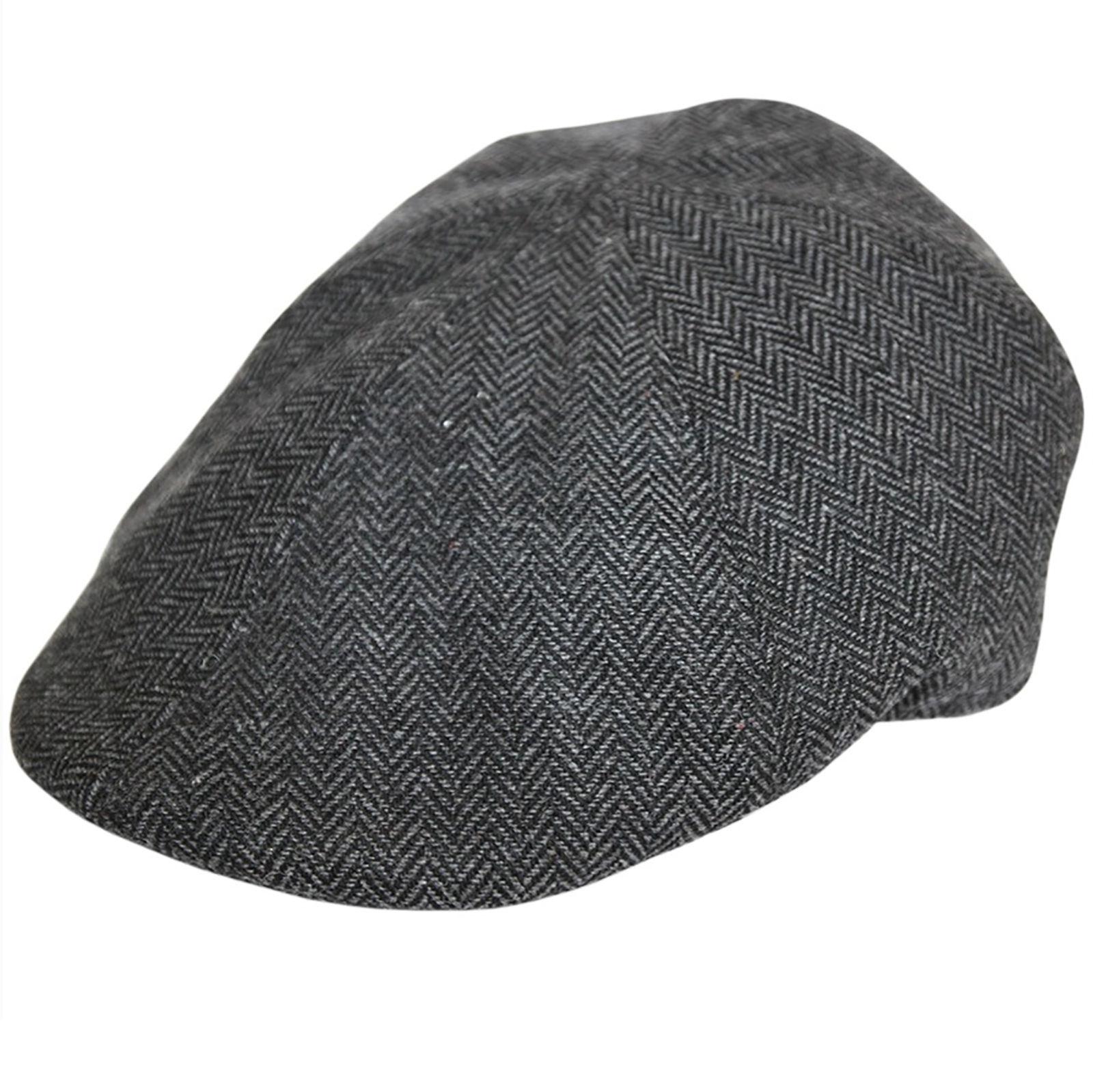 2d9fe2578e1 Herringbone Wool Flat Cap