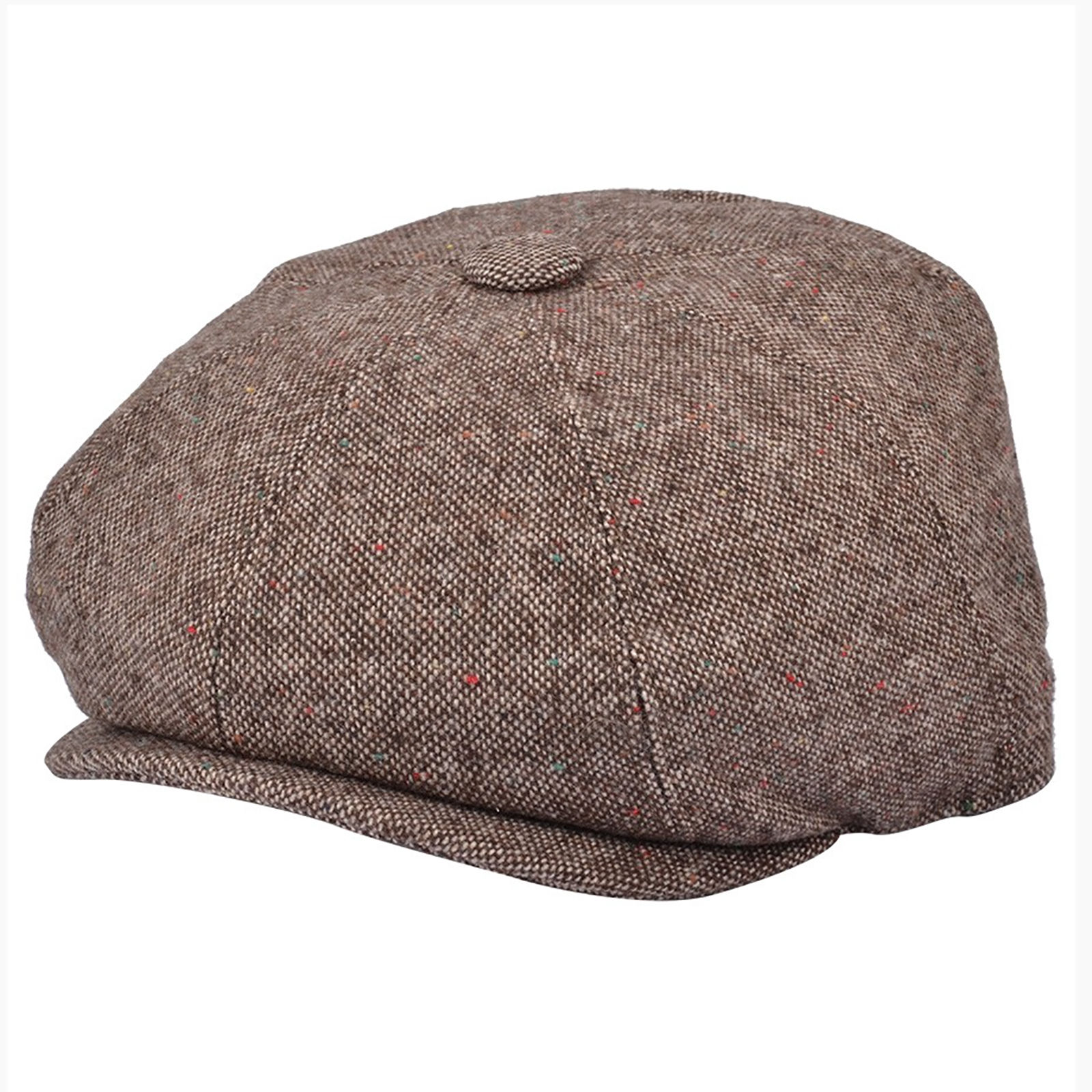 Details about G   H Salt   Pepper Brown Newsboy 8 Panel Peaky Blinders  Style Cap Hat 50a889410a0