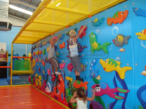 Ocean Themed Climbing Wall Indoor Playground System
