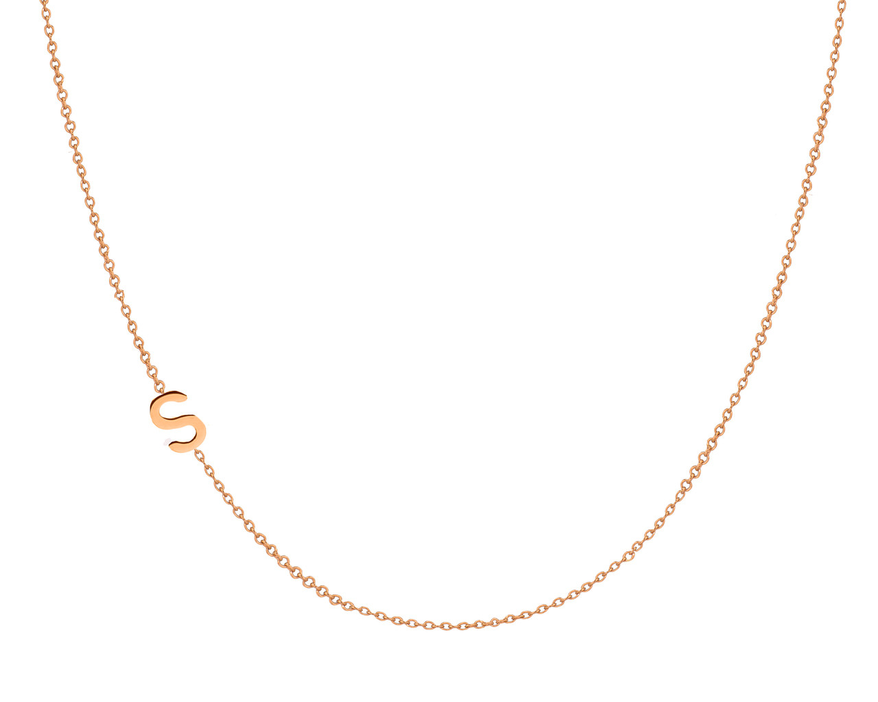 gold asymmetrical initial necklace