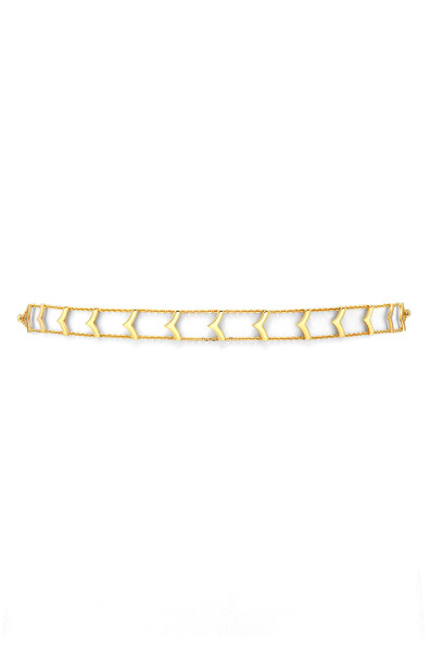 14k gold Y segment choker necklace