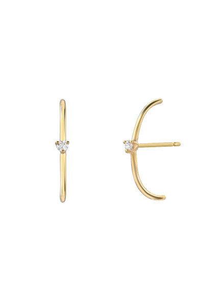 14k gold cartilage diamond stud earrings