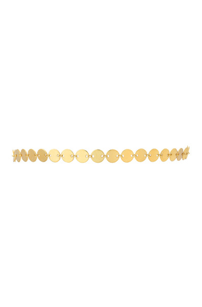 14k gold discs choker necklace