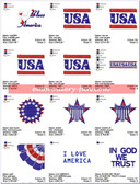 4th july Celebrations EMBROIDERY DESIGNS