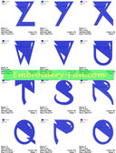 ALIEN FONTS ALPHABETS EMBROIDERY DESIGNS