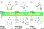 APPLIQUE STARS EMBROIDERY DESIGNS