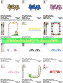 BABY BORDERS & FRAMES EMBROIDERY MACHINE DESIGNS